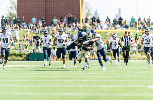 Shock Linwood led the Baylor Bears rushing attack with 16 carries for 158 yards and a TD. Photo Courtesy: Matthew Lynch