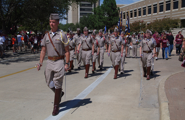 The Texas A&M Corps-of-Cadets will be proudly marching into their renovated stadium on Saturday. Photo Courtesy: Brian Bennett