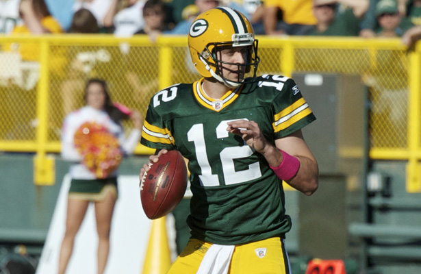 An aggressive Broncos defense will be targeting Packers QB Aaron Rodgers all game long. Photo Courtesy: Elvis Kennedy