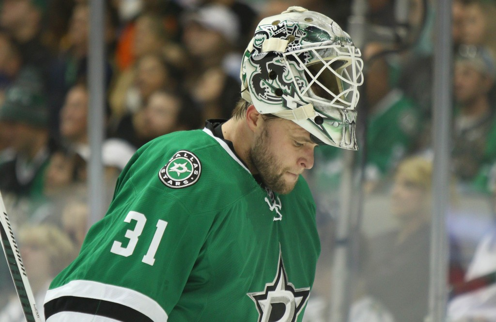 Antti Niemi and the Stars shutout the Penguins in the season opener. Photo Courtesy: Michael Kolch