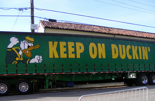 The Ducks ran over the Buffaloes in the second half of Saturday's game. Photo Courtesy: Dinur