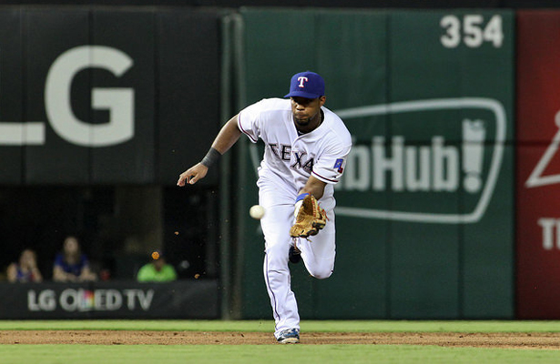 Rangers shortstop Elvis Andrus played a significant role in the team's 7th inning meltdown in Toronto. Photo Courtesy: Dominic Ceraldi