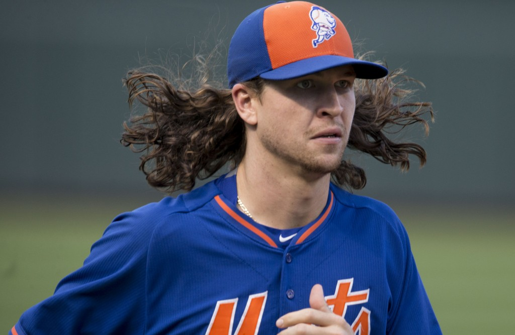 Mets ace, Jacob deGrom prepares for his first postseason start against the Dodgers. Photo Courtesy: Keith Allison