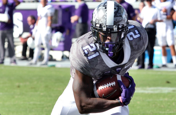 The touchdown run by Kyle Hicks sealed the deal for the Frogs victory. Photo Courtesy: Dominic Ceraldi