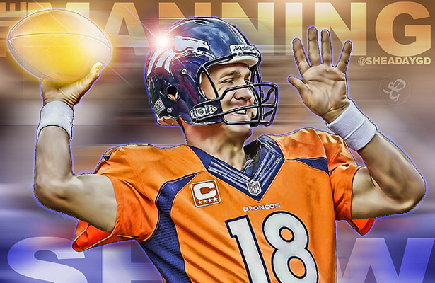 It could be the Peyton Manning show if he comes out throwing against the Raiders. Photo Courtesy: Shea Huening