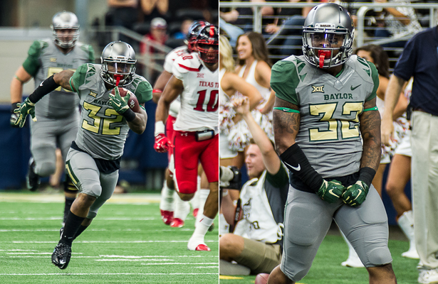 Baylor Bears RB Shock Linwood had a career day against the Texas Tech Red Raiders with 221 rushing yards. Photo Courtesy: Matthew Lynch