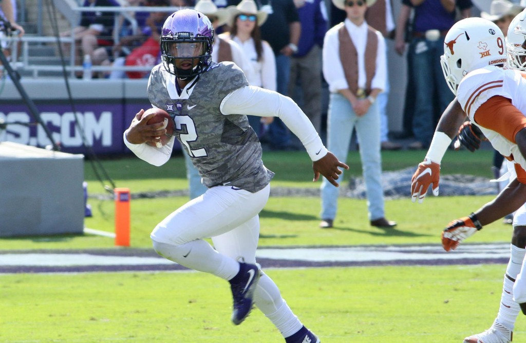 Trevone Boykin led the Horned Frogs to a route against the Texas Longhorns.