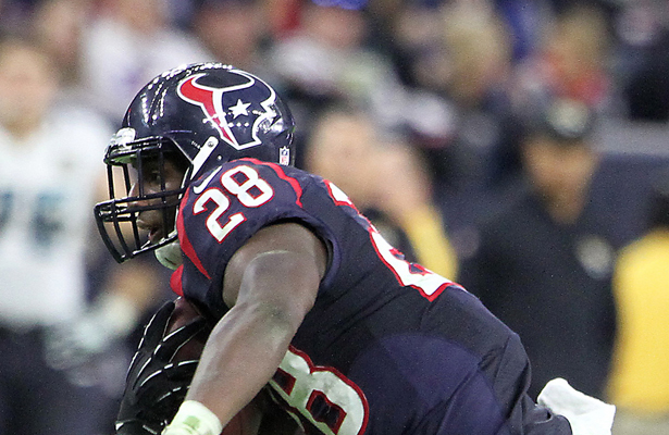 Alfred Blue will try to get the Houston Texans offense going against the Cincinnati Bengals. Photo Courtesy: Rick Leal