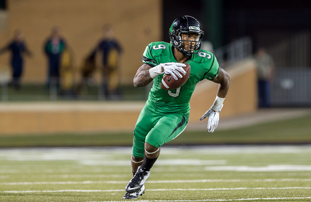 UNT WR Carlos Harris is the most explosive player for the Mean Green but hasn't been able to prove it this season. Photo Courtesy: Sandy McNally