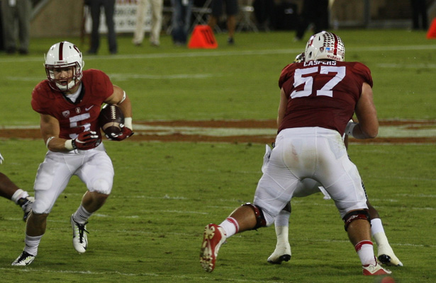 Stanford Cardinal RB Christian McCaffrey had 147 yards rushing and passed for a touchdown. Photo Courtesy: Michael Li