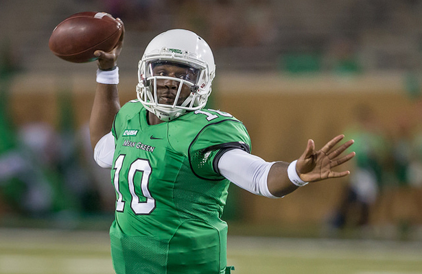 Mean Green QB DaMarcus Smith made plays with his arm when needed on Saturday. Photo Courtesy: Sandy McAnally