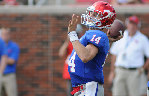 SMU Mustangs senior QB Garrett Krstich made the start against the Navy Midshipmen since his father served in the Navy. Photo Courtesy: Joseph Dowling