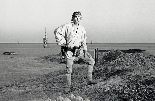 Back in the old days, everything was black and white. Now fans want to know the fate of Luke Skywalker before the new Star Wars film has been released. Photo Courtesy: Tom Simpson
