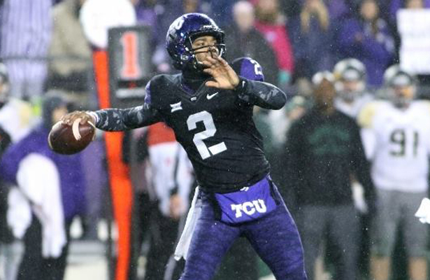 TCU QB Trevone Boykin wasn't effective passing but made up for it with his legs against Baylor. Photo Courtesy: Dominic Ceraldi