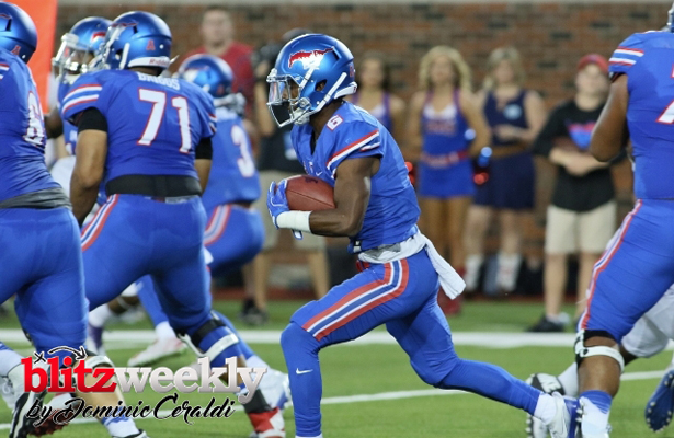Mustangs RB Braeden West will look to rebound from the loss to TCU. Photo Courtesy: Dominic Ceraldi