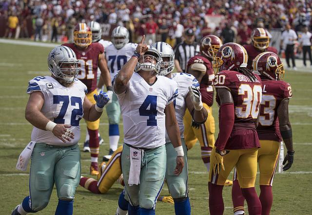 Cowboys QB Dak Prescott has taken the team where no Cowboys team has gone before. Photo Courtesy: Keith Allison