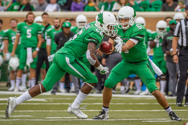 The Mean Green will rely on freshman QB Mason Fine to lead them to victory. Photo Courtesy: Sandy McAnally