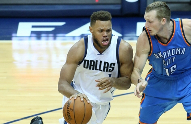It seems like Justin Anderson is regressing this season which is a concern for the Mavericks. Photo Courtesy: Dominic Ceraldi