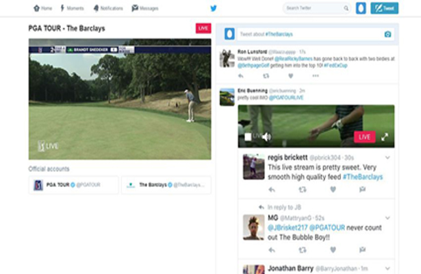 Here's how it should look when streaming live. Photo Courtesy: PGA Tour