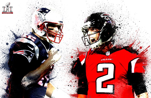 The NFL has saved it's best for last with the Patriots taking on the Falcons. Photo Courtesy: Marathonbet Twitter Account
