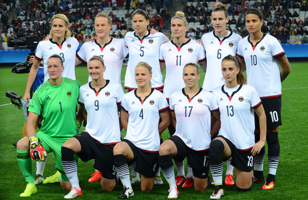 The German National Women's team ended their game in a tie.