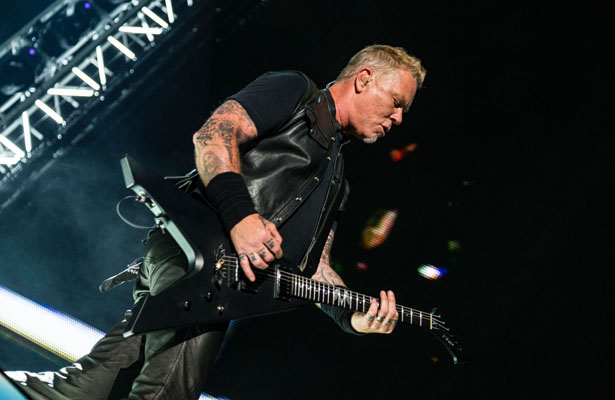 Singer and guitarist James Hetfield was usually the center of attention when Metallica performed at AT&T Stadium. Photo Courtesy: Matt Pearce