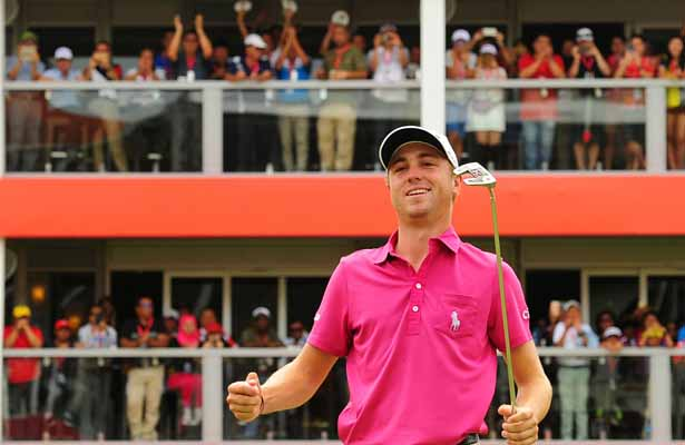Justin Thomas earned his fifth win of the season in Boston. Photo Courtesy: Justin Thomas Twitter Account