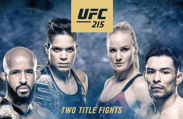 UFC 215 has a great card and features two title fights! Awesome!