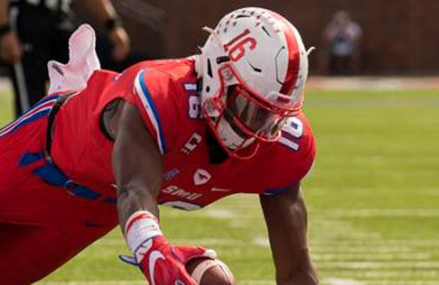 SMU WR Courtland Sutton must show that he can put the team on his back on Saturday. Photo Courtesy: Michael Carnes
