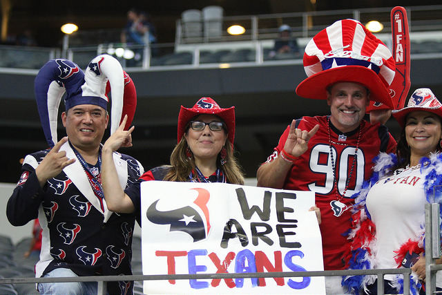 Houston Texans fans need to be loud and rowdy to create home field advantage for the team. Photo Courtesy: Michael Kolch