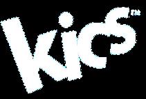 KICS logo in white