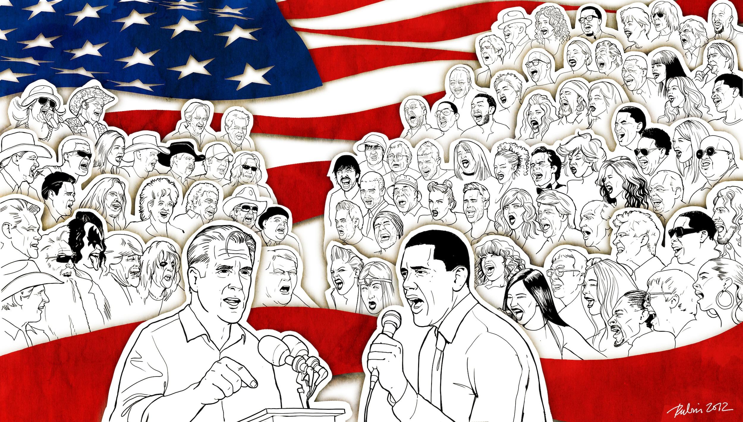 Illustrator Gunter Rubin // Music and Politics