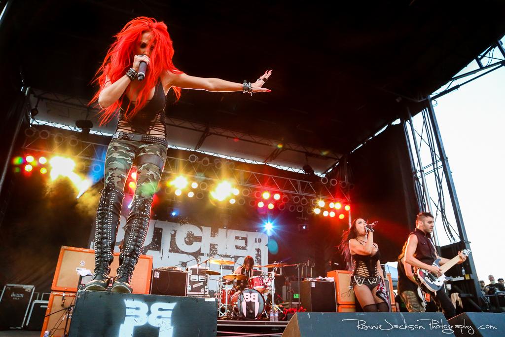 Butcher Babies - Rocklahoma 2014 - Hard Rock Stage