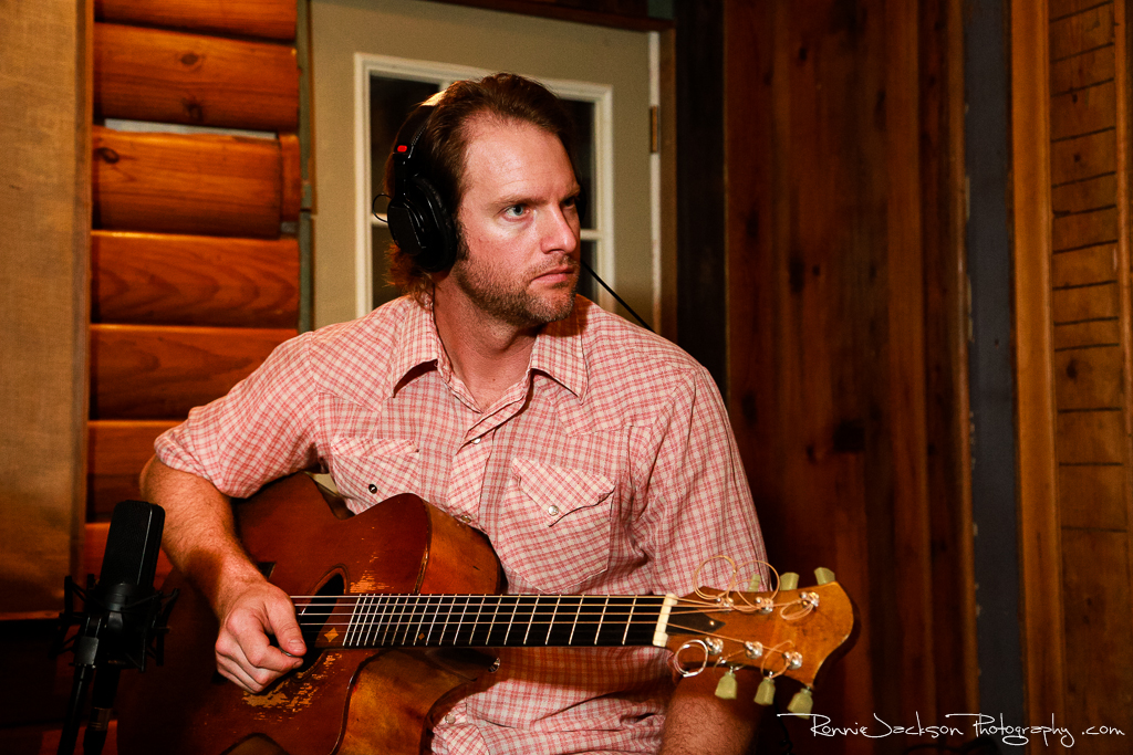 """Aaron Borden (Exit 380) - """"Photomaps"""" Recording Sessions at Big Acre Sound, Photo by Ronnie Jackson"""