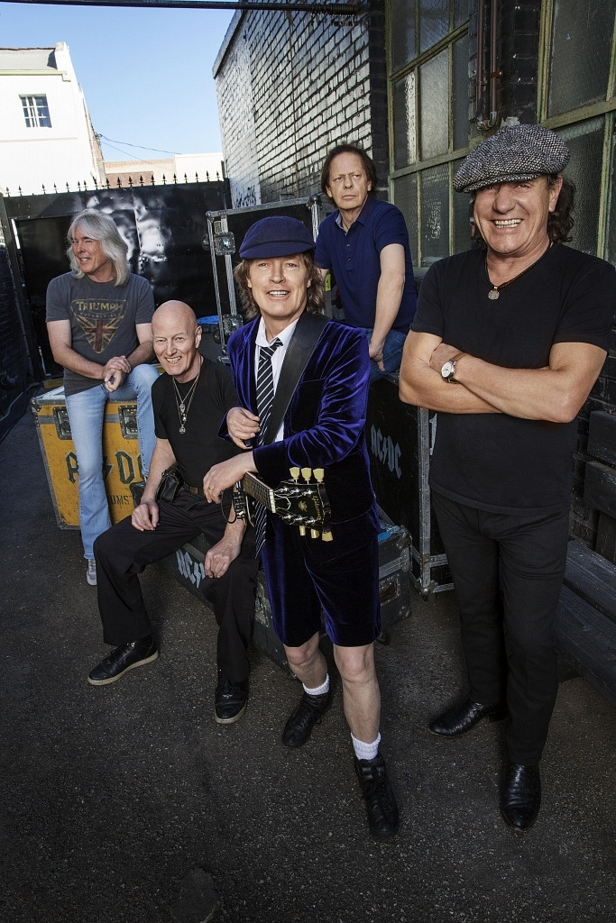 ACDC credit Josh Cheuse (L to R - Cliff Williams, Chris Slade, Angus Young, Stevie Young and Brian Johnson)