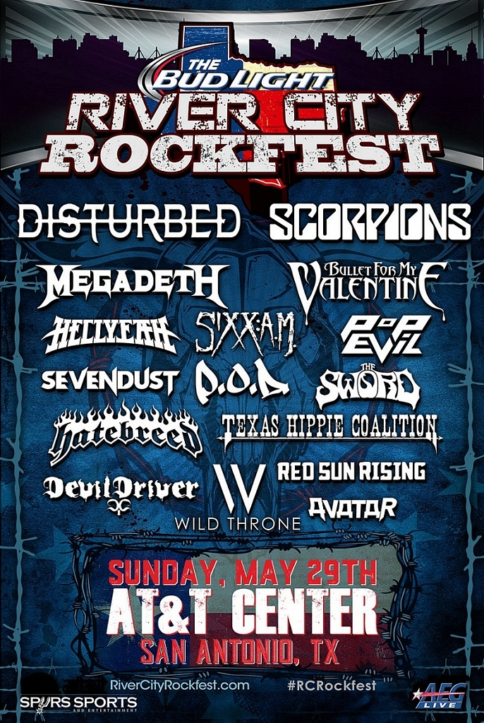 2016 River City Rockfest Lineup