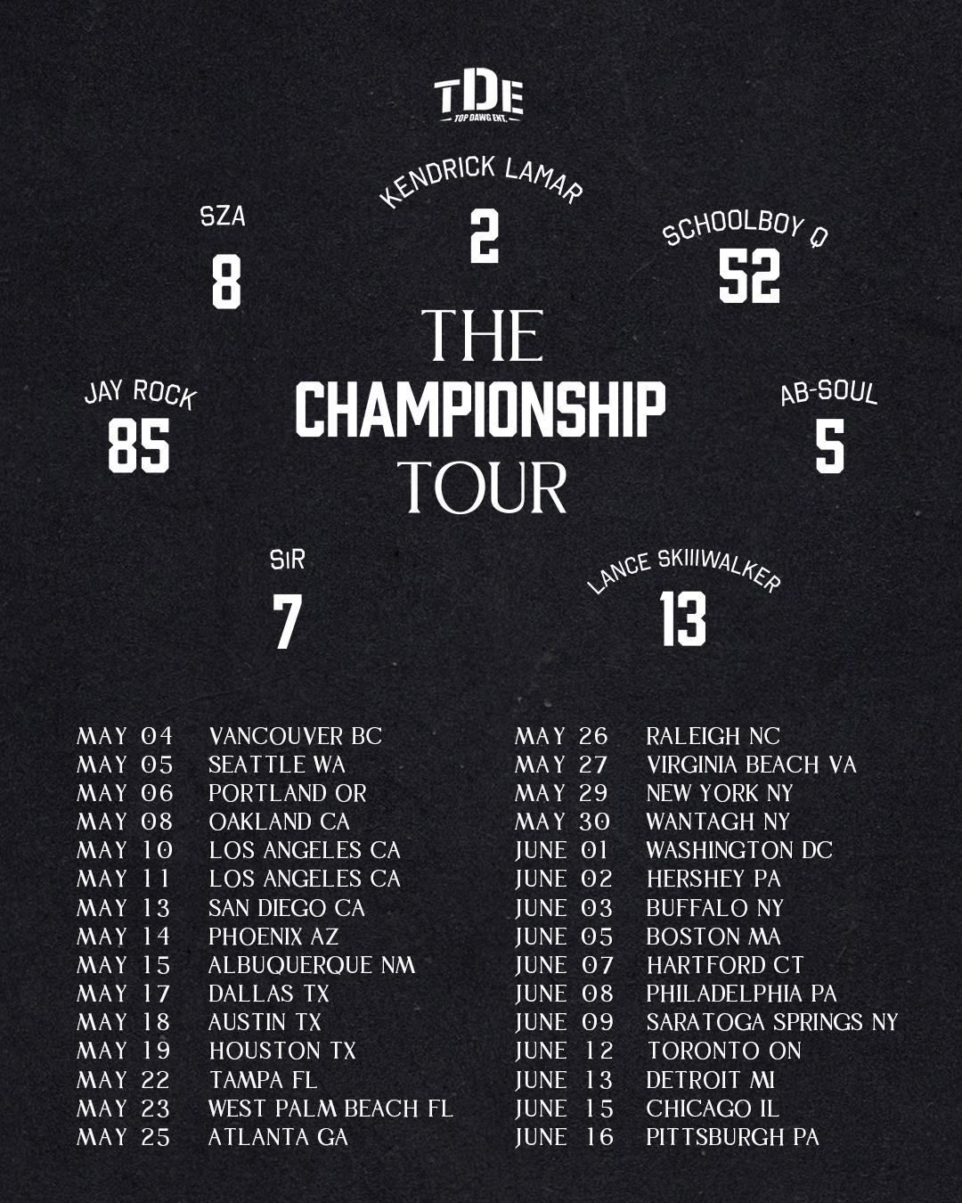 The Championship Tour 2018