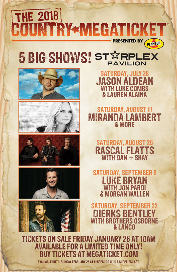 2018 Country Megaticket