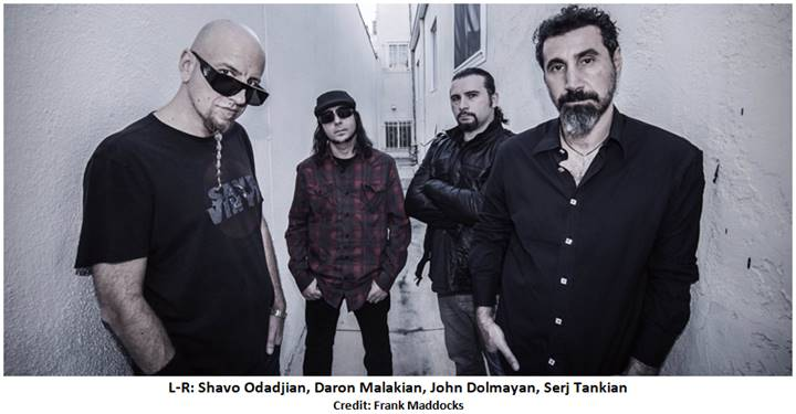 System Of A Down 2018