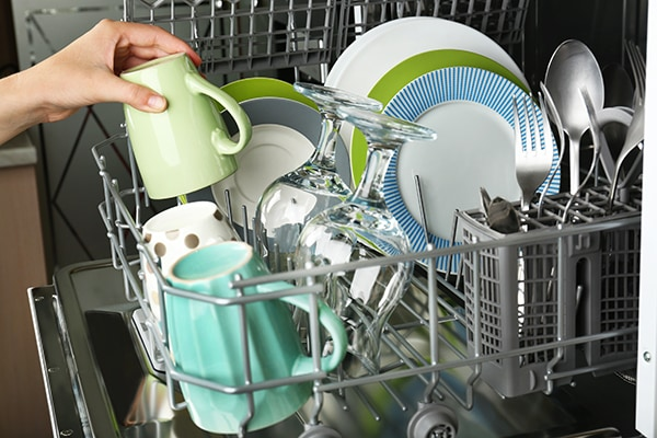 what's the best way to load silverware in a dishwasher