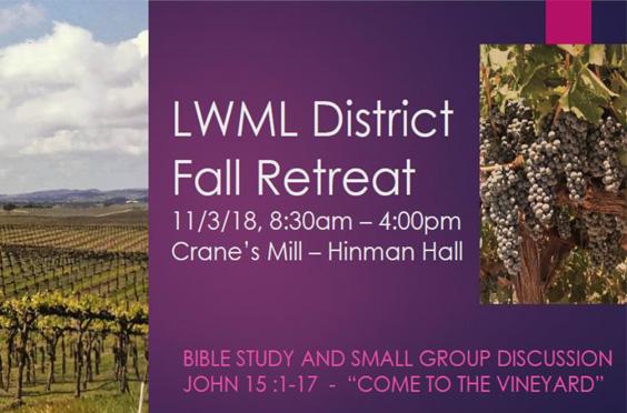 LWML NJ District Fall  2018