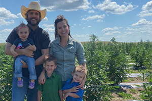cathy and weber hemp farmers