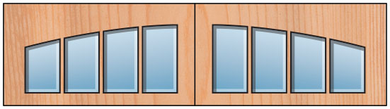 Everite Door - Long 4 Lite AR