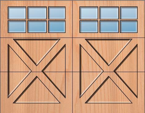 Everite Door - Berks 3 OV 3 Square Lites