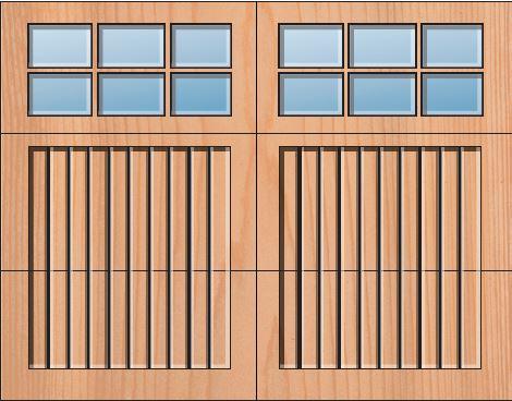 Everite Door - Carbon 3 OV 3 Square Lites