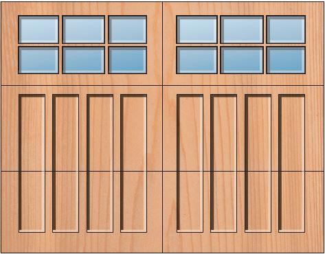 Everite Door - Fayette 3 OV 3 Square Lites