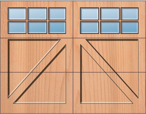 Everite Door - Lehigh 3 OV 3 Square Lites