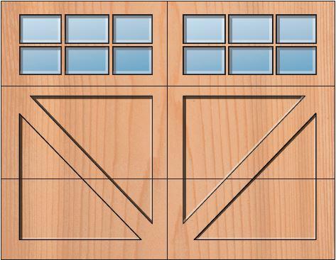 Everite Door - Luzerne 3 OV 3 Square Lites