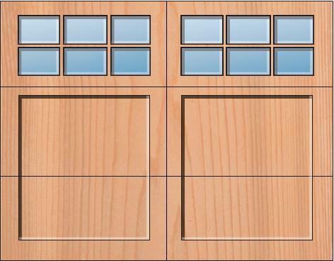 Everite Door - Monroe 3 OV 3 Square Lites