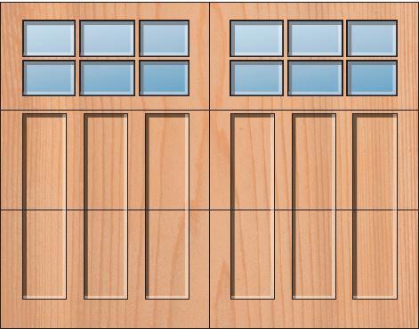 Everite Door - Westmoreland 3 OV 3 Square Lites